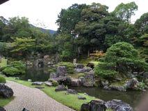 Jardim de rocha japonês do zen no templo de Daigo-ji, Kyoto fotos de stock royalty free