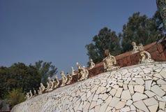 Jardim de rocha, museu da boneca, Chandigarh, Índia imagens de stock