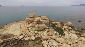 Jardim de rocha vietnamiano, cabo Hon Chong vídeos de arquivo