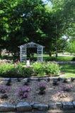 Jardim de rosas e trellis   Imagens de Stock Royalty Free