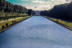 Jardim de Royal Palace em Caserta, Itália fotografia de stock royalty free