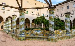 Jardim de Santa Clara Monastery em Nápoles, Itália fotografia de stock royalty free