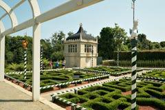 Jardim de Tudor em Hamilton Gardens, Hamilton, Nova Zelândia, NZ Imagens de Stock Royalty Free