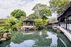 Jardim de Zhuozheng, cidade de suzhou, província de jiangsu, China fotos de stock