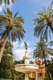 Jardim do Alcazar de Sevilha imagens de stock