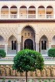 Jardim do Alcazar de Sevilha imagem de stock