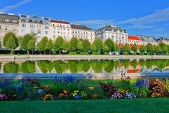 Jardim do Belvedere em Viena, Áustria fotografia de stock