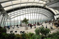 Jardim do céu em um arranha-céus na cidade de Londres, Inglaterra Fotografia de Stock Royalty Free