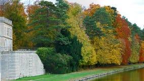 Jardim do castelo Chantilly fotos de stock