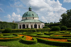 Jardim do castelo em Kromeriz, CZ Imagens de Stock Royalty Free