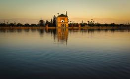 Jardim do EL Menara em C4marraquexe, Marrocos Imagem de Stock Royalty Free