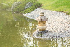 Jardim do estilo japonês. Imagem de Stock