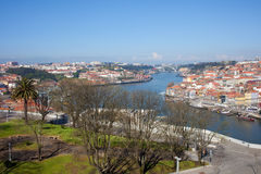 Jardim do Morro in Gaia and Porto Cityscape Royalty Free Stock Images