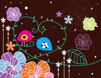Jardim do pássaro no marrom Imagem de Stock