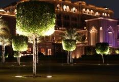 Jardim do palácio dos emirados. Abu Dhabi Foto de Stock