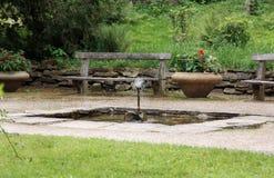Jardim do palácio, Ratiborice, República Checa Fotografia de Stock Royalty Free