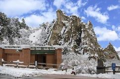 Jardim do parque dos deuses no inverno Fotografia de Stock Royalty Free