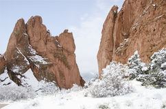 Jardim do parque dos deuses no inverno Imagens de Stock Royalty Free