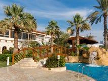 Jardim do recurso do hotel em Dubai Foto de Stock Royalty Free
