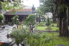 Jardim do templo de Den Quan Thanh Foto de Stock Royalty Free