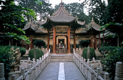 Jardim do templo em Xian, China fotos de stock royalty free