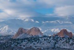 Jardim dos deuses, Colorado Imagem de Stock