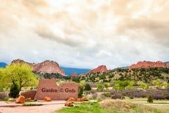 Jardim dos deuses, Colorado, EUA foto de stock royalty free