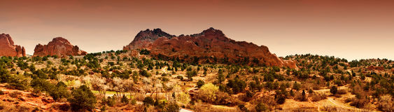 Jardim dos deuses, Colorado Springs Imagens de Stock