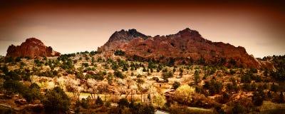 Jardim dos deuses, Colorado Springs Imagem de Stock