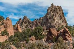 Jardim dos deuses Colorado Springs Imagem de Stock Royalty Free