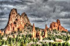 Jardim dos deuses, Colorado Springs, Colorado Fotografia de Stock