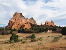 Jardim dos deuses em Colorado Springs fotos de stock