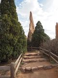 Jardim dos deuses em Colorado Springs fotografia de stock royalty free