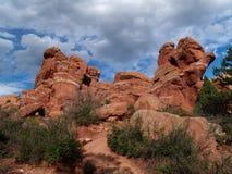 Jardim dos deuses--Panorama Imagens de Stock Royalty Free