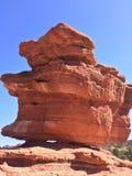Jardim dos deuses, rocha do equilíbrio, rochas exteriores, vermelhas, fotografia de stock