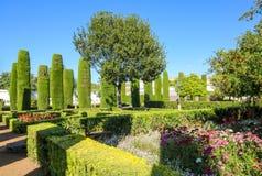 Jardim dos reis de Córdova Imagem de Stock Royalty Free