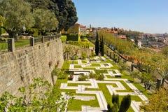 Jardim DOS Sentimentos (trädgård av känslor) i Porto arkivfoton