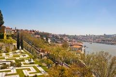 Jardim DOS Sentimentos (trädgård av känslor) i Porto arkivbilder