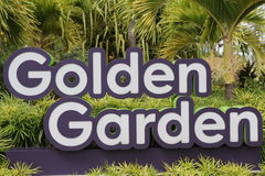 Jardim dourado Fotografia de Stock