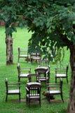 Jardim e cadeira Imagem de Stock Royalty Free