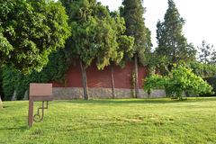 Jardim e cartaz Fotografia de Stock Royalty Free