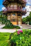 Jardim e pagode em Patterson Park em Baltimore, Maryland fotos de stock royalty free