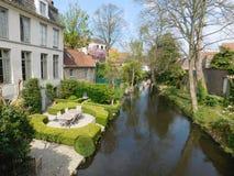 Jardim em Bruges fotografia de stock