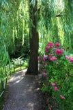 Jardim em Giverny, France Foto de Stock Royalty Free