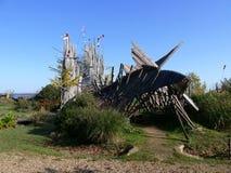 Jardim estrelado em Paimboeuf em Brittany Fotos de Stock