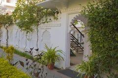 Jardim exótico Projeto da paisagem do jardim Foto de Stock Royalty Free