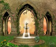 Jardim fantástico do castelo Foto de Stock Royalty Free