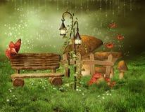 Jardim feericamente Enchanted ilustração royalty free
