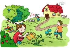 Jardim feliz dos números mágicos Imagens de Stock Royalty Free