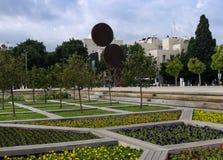 Jardim fora do palácio da cultura fotografia de stock